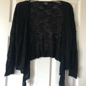 Black mini cropped cardigan